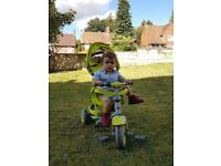 Push along three wheeled trike as new with all accessories