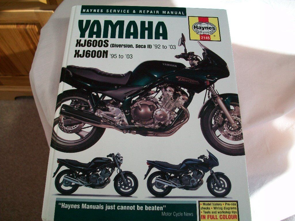 Haynes Workshop Manual Yamaha XJ 600S XJ600N Diversion Seca 1992-2003 Repair