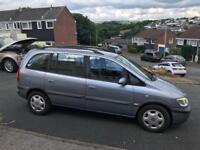 53 plate 7 seater Vauxhall Zafira