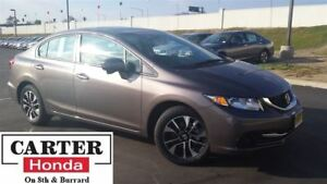 2014 Honda Civic EX + LOW KMS + ACCIDENT FREE! + CERTIFIED!