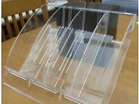 Pentel pen display tray for slat walling