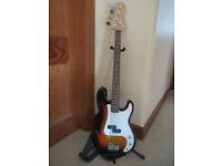 Bass Guitar with Amplifier