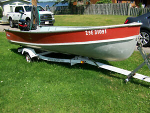 14 Foot Nadon, Trailer and Mercury Motor