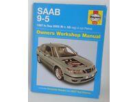 SAAB 9-5 Workshop Manual by Haynes for models 1997 to Sep 2005. Only £7