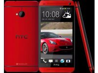 NEW HTC One M7 32GB Quad-Core Unlocked Smartphone Android Mobile Phone Red
