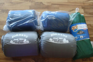 New, Coleman's dome tent & 4 sleeping bags.