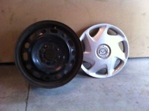 """Mazda 16"""" OEM steel rims and covers"""