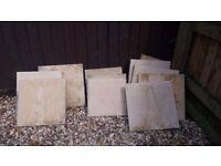 Cream paving stones slabs x 11