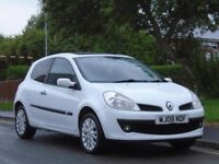 Renault Clio 1.2 16v Dynamique 3dr, 1 LADY OWNER FROM NEW,LONG MOT,lovely car