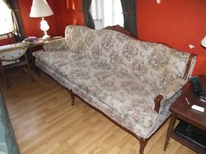 """Queen Ann"" antique couch & chair"