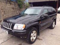 2004 black Grand Cherokee CRD Ltd 4x4 Px welcome