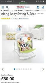 Fisher Price Rainforest Take along baby swing and seat