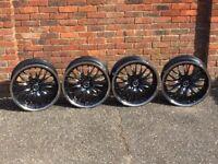 Alustar deep dish alloy wheels, 19inch, 5x112 staggered, Mercedes, Audi, Vw