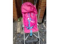 second hand pink pram with rain cover in very good condition Raincover.