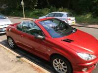 RED PEUGEOT*206*ALLURE*COVERTABLE *2003*LOW MILEAGE*REAL BARGAIN***