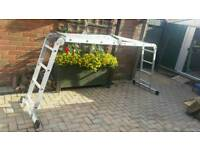 Foldable Ladder with platform