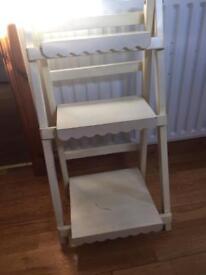 Ladder shelf stand
