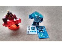 2 TRAP MASTER skylanders, 1 with card and sticker. Excellent condition Works on ALL consoles.