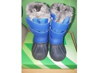CAMPRI Snow Boots Infant Boy C5 Blue/Black with Box