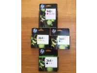 Genuine hp 364XL & 940XL printer cartridges, all in unopened boxes