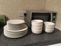 White dinnerware set for 8