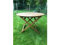 Hardwood Folding Octagonal Garden Table