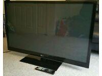 50 LG Razor frame Plasma TV with 600Hz, 2x HDMI, USB Connectivity & Built-in Digital Freeview