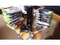 Xbox360 slim 250 GB with more than 30 games