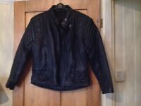 Ladies leather bike jacket size 12