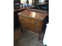 Chest of drawers , with original handles in good condition . size L 29 in D 18 in H 31 in