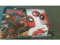 deadpool and spiderman comics/book