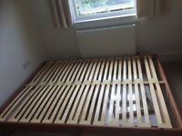Pinewood Double Bed Frame Only For Sale No Mattress Included Just Frame Good Condition