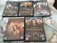Twilight Saga - 5 DVDs