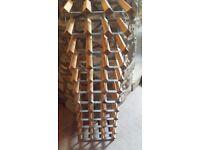 Wine Rack - wooden - holds 36 or 48 bottles