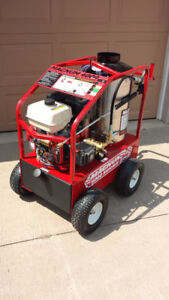 HOT WATER PRESSURE WASHER 4000PSI, GAS ENGINE, ELECTRIC START