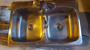 Stainless Steel Sink and Faucet - Price Reduced
