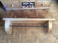 Over AGA kitchen shelf and drying rail antique pine