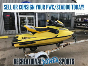 WE BUY AND CONSIGN USED PWCs AND SEADOOS! SELL YOURS TODAY!