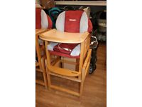 Recarro Wooden Highchair - converts into table & chair