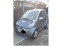 Semi Automatic Grey & Silver Smart Car