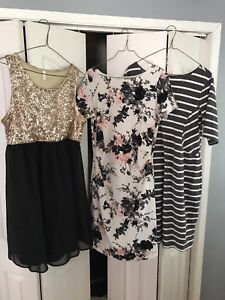 Maternity women's dresses formal casual office -Lot of 3