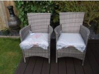 Rattan chairs x2 brand new billy oh