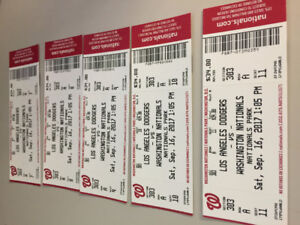 5 Washington Nationals vs Los Angeles Dodgers tickets for $200