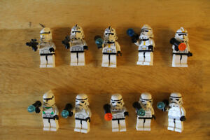 Lot of 10 Lego Mini-figs Storm Troopers