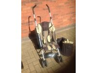 * SOLD * Cossato Stroller Pushchair with Rain Cover