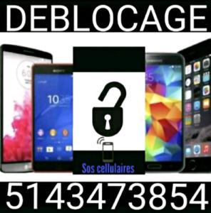 Déblocage unlock Samsung Lg Huawei Alcatel