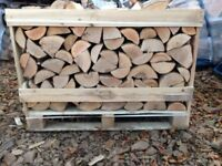 Stacked Crate Kiln dried logs