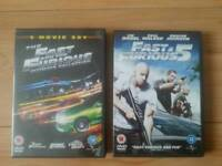 4x Fast and furious dvds