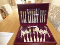 Canteen of silver plated cutlery 45 pieces