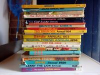 Approx 140 Annuals/Books For Sale - Mixed conditions - Ideal for collector or Car Boot